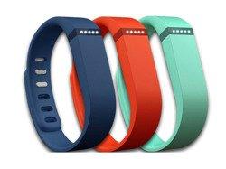 Fitbit Flex - zestaw wymiennych opasek sport dla Fitbit Flex: tangerine, navy, teal (rozmiar duży)