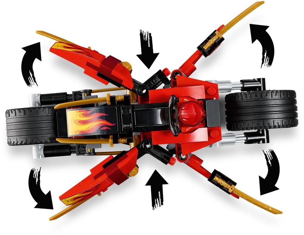 Klocki LEGO NINJAGO - Motocykl Kaia i skuter Zanea - 70667