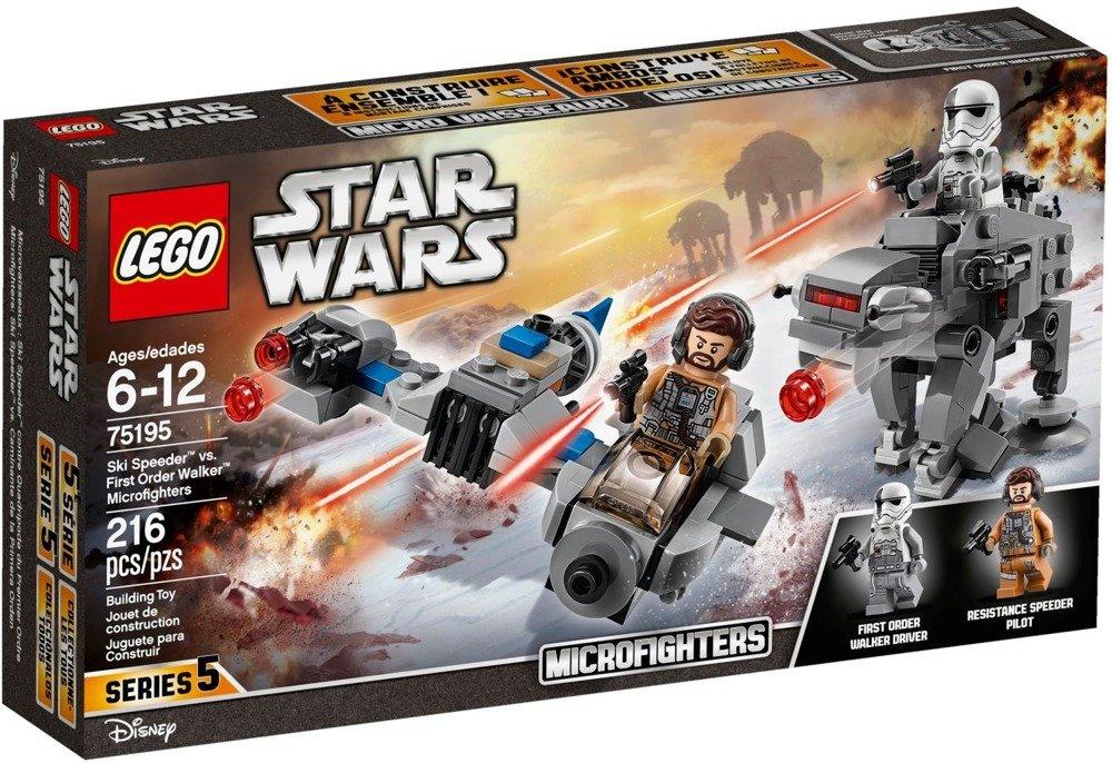 Klocki LEGO STAR WARS - Ski Speeder kontra Maszyna krocząca Najwyższego Porządku - 75195